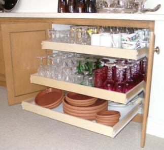 Kitchen Pull Out Shelving Solutions From Kitchen PullOut Shelves - Sliding shelves for kitchen cabinets